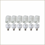 Westcott 6 Pack 50W Daylight Compact Fluorescent Lamps, 0061