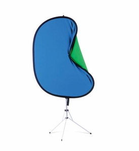 Westcott 6'x7' Reversible Chroma Key Blue Green Screen Kit w/ Stand 5985