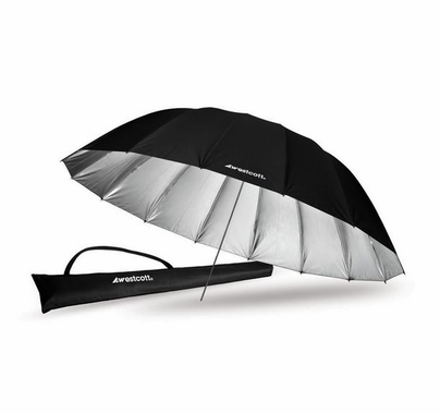 Westcott 7ft. Silver Parabolic Umbrella, 4633