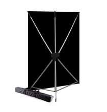 Westcott Black X-Drop BackDrop Kit, 5' x 7', 578K