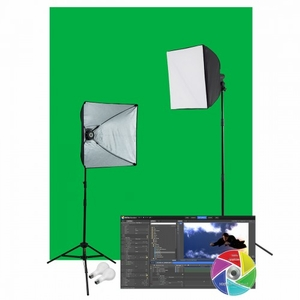 Westcott Photo Basics Green Screen Studio Video Lighting Kit  402N