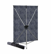 Westcott Slate Gray X-Drop BackDrop Kit, 5' x 7', 575K