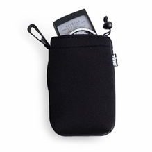 Zing Medium Neoprene Pouch w/ Draw String, Black / Blue