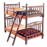 Rustic Hickory Bunk Bed- Various Sizes Available