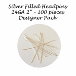 "1/10 Silver-Filled Headpins 22Ga, 2"", 2 inches (100) Designer Pack"