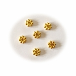 4mm Gold Vermeil Bali Style Daisy Spacer Bead 25pc