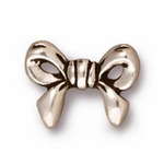 TierraCast� Antique Silver Plated Bow Bead (Qty 4)