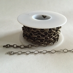 Base Metal Chain by the Foot: Antique Brass, Antique Silver