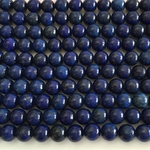 "Lapis Blue 6mm round 16"" Gemstone strand Semi-Precious"