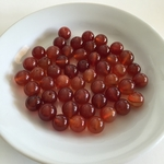 Orange Carnelian Agate Gemstone Beads 6.5-8mm round, appx 50 pc, 30 grams