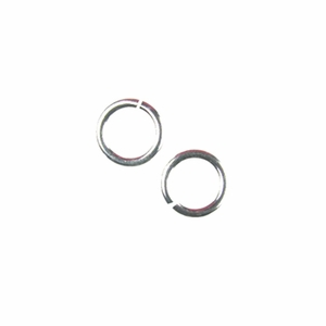 Snapeez� II Ultraplate�  6mm Jump Rings - 99.9% Pure Silver (25)