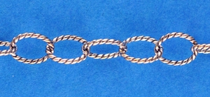 Sterling Silver Chain 130 - Twisted Wire Cable