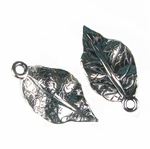 Sterling Silver Cast Leaf Pendant by JBB