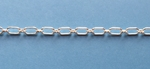 Sterling Silver Chain 801s Ring & Connector 6x3.4mm *new*