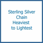 Sterling Silver Chain from Heaviest to Lightest