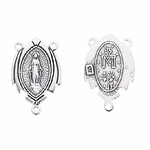 Sterling Silver Rosary Station I - Miraculous Medal