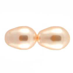 Swarovski 5821 11/8 Peach Crystal  Pearl Drop Beads (10)