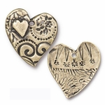 TierraCast Amor Heart Pendant, Reversible, Brass Oxide, per piece  *new*