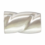 Sterling Silver Twisted Tube Crimps, 3mm  (Qty 25)
