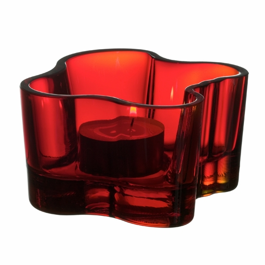 iittala Aalto Votive Candle Holder - Red