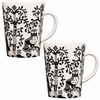 iittala Taika White / Black Mug � Set of 2