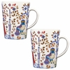iittala Taika White / Blue Mug � Set of 2