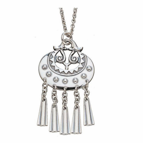 Kalevala Moon Goddess Silver Pendant Necklace