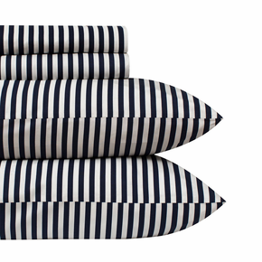 Marimekko Ajo Navy Sheet Set - Queen