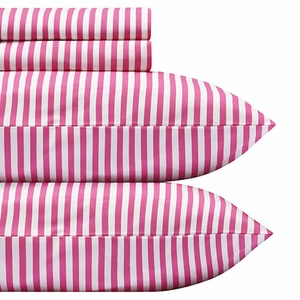 Marimekko Ajo Pink Stripe Percale Bedding - Click to enlarge