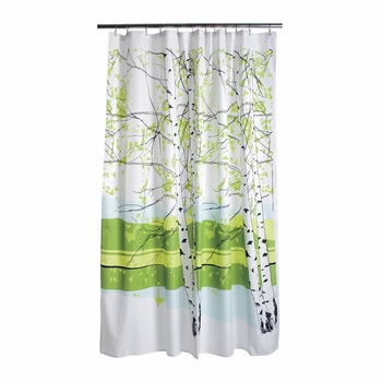 Marimekko Kaiku Long Polyester Shower Curtain - Click to enlarge