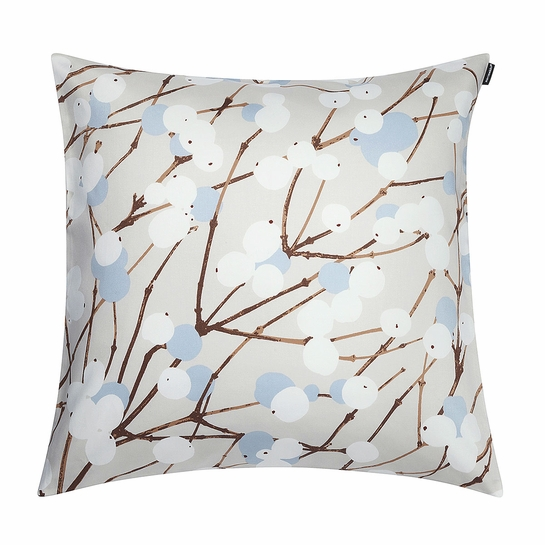 Marimekko Lumimarja Grey/Blue Throw Pillow
