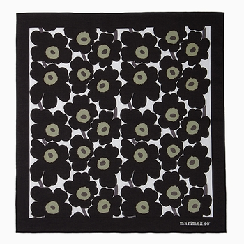 Marimekko Mini Unikko Black Square Scarf - Click to enlarge