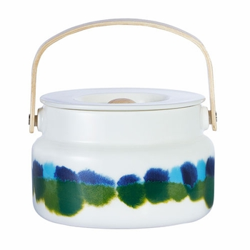 Marimekko Weather Diary White/Blue/Green Serving Pot - Click to enlarge