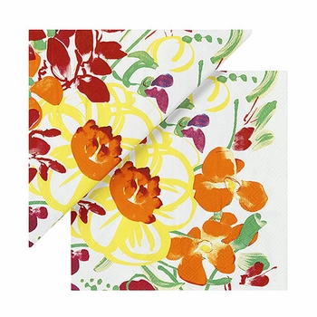 Marimekko Ursula White/Multi Lunch Napkins - Click to enlarge