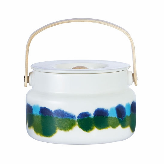 Marimekko Weather Diary White/Blue/Green Serving Pot