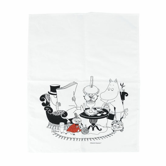 Moomin Pappa Reading Kitchen Towel