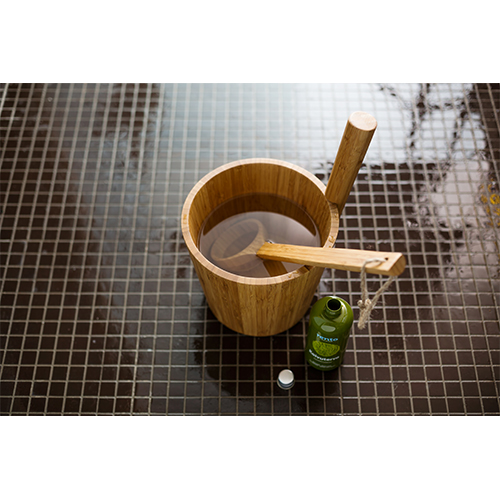 Bamboo Sauna Towels: Rento Wood Sauna Buckets