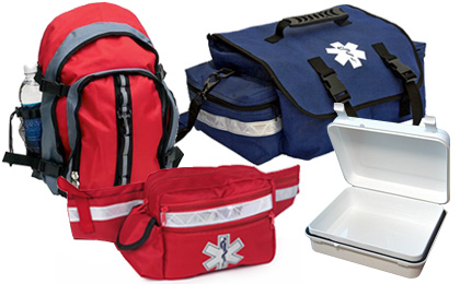 EMT Medical Supply Bags, Packs and First Aid Kit Containers