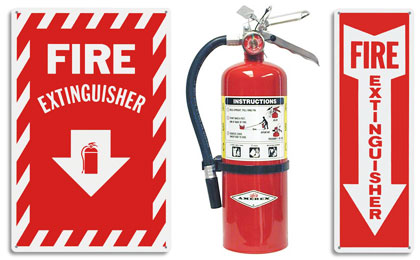 Fire Extinguisher Arrow Signs