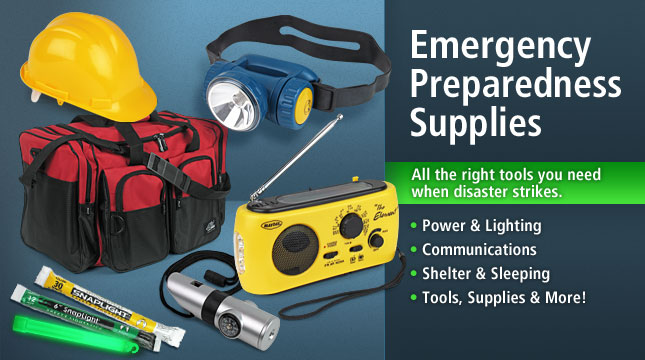 Emergency Tools and Supplies.