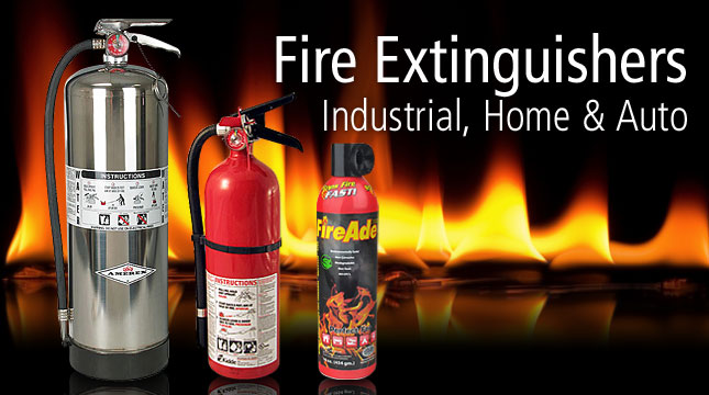 Fire Extinguishers for Industrial, Home & Auto
