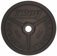 100lb Black Troy Wide Flanged Olympic Weight Plate - Pair
