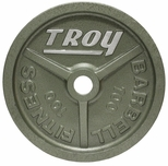 100lb Gray Troy Wide Flanged Olympic Weight Plate - Pair