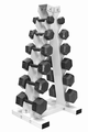 5lb - 30lb Hex Dumbbell Set W/Vertical Dumbbell Rack