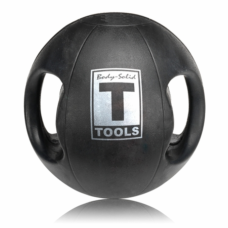 Body Solid BSTDMB10 10lb Dual Grip Medicine Ball