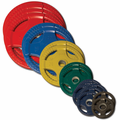 Body Solid Colored Rubber Olympic Weight Plate Set - 355lbs