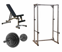 Body Solid Economy Power Rack Gym Package