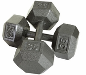 Hex Dumbbells 30-50lb. Set