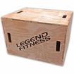 Legend Fitness Wood Plyo Box 3-in-1 #3210-3N1