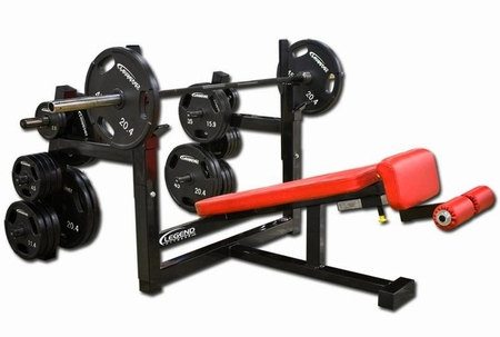 Legend Olympic Decline Bench W/ Plate Storage  3157